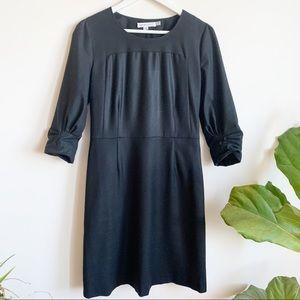 SEE BY CHLOÉ Wool 3/4 Sleeve Black on Black Dress